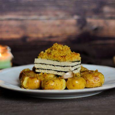 Tofu marinho com broa & a melhor batata assada
