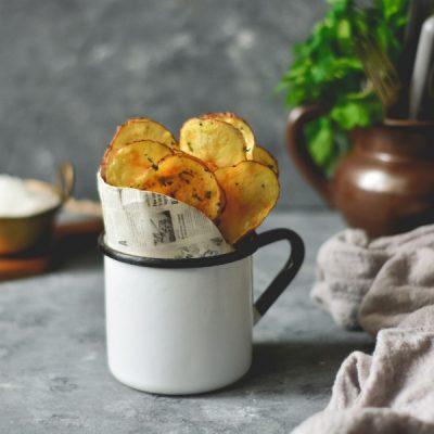Chips de batata (no microondas)