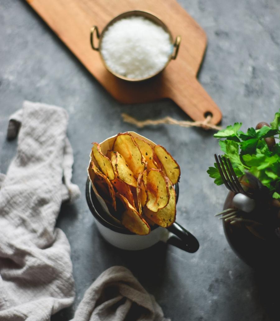 Chips batata caseiras