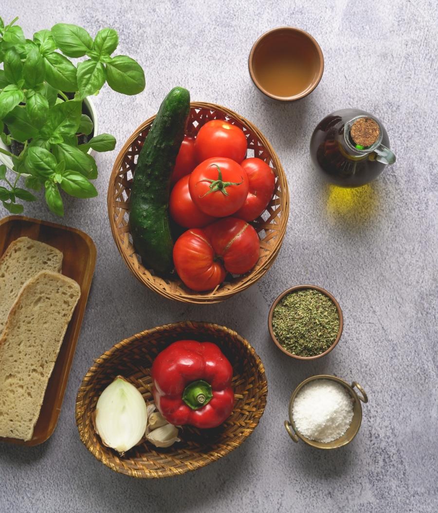 Gaspacho com croutons dicas da oksi