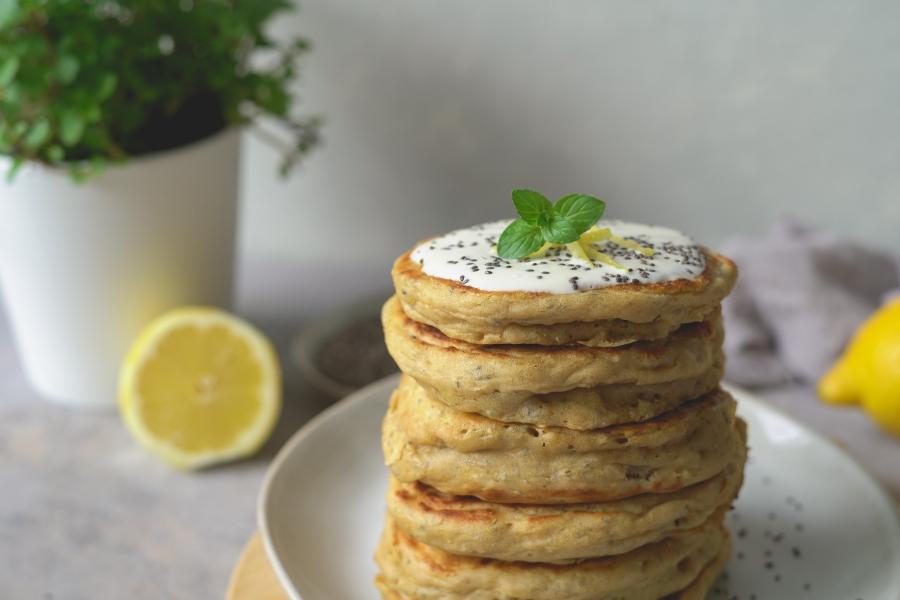 panquecas limão e chia