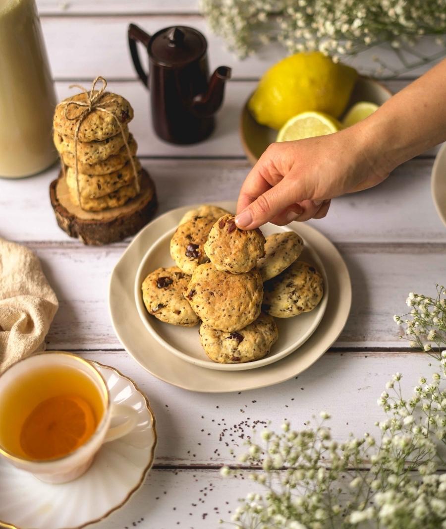 Biscoitos de chia & limão