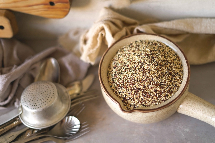 Croquetes quinoa e tofu