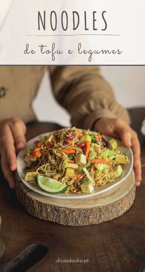 Noodles de legumes e tofu (vegan) pinterest